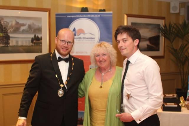 Matt Bainbridge, manager of the Alhambra Cinema collected Employee of the Year