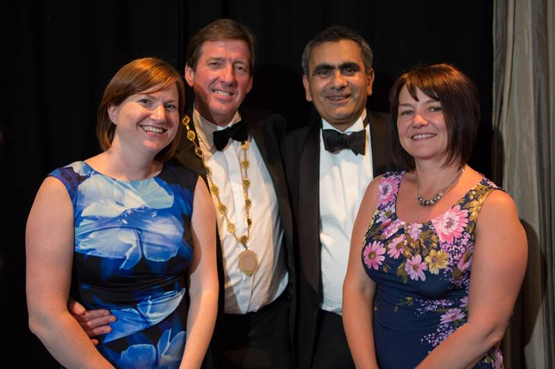 The Executive Committee, Heidi Marshall, Richard Utting, Amyn Fazal and Penrith Ambassador Fiona Askins