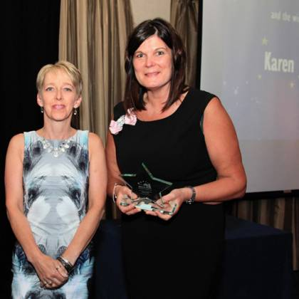Business person of the year, Karen James. Sponsored by Penrith Building Society. Photo: Cumbria Photography