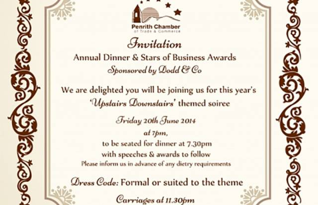 Annual Dinner & Stars of Business Awards 2014
