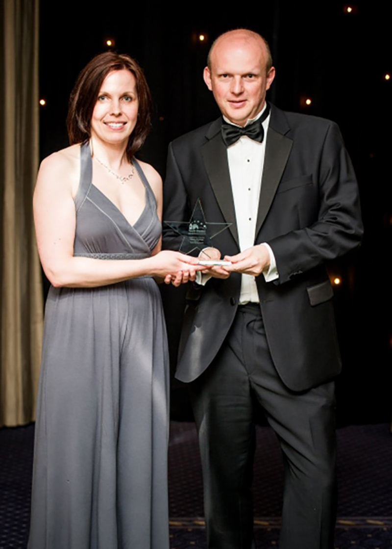 Lynne Mallinson of Country Puddings, wins Small Business of the Year